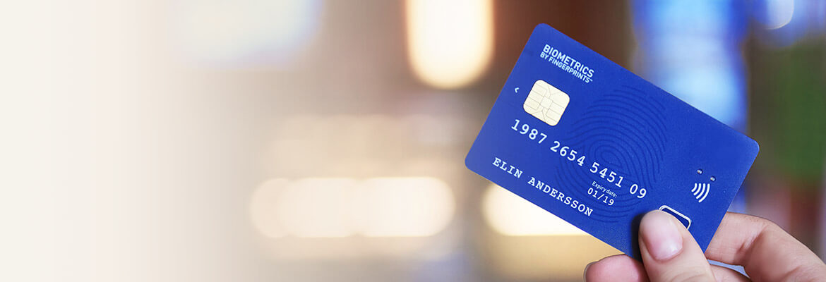 Precise BioMatch® Card in the world's first contactless biometric payment card